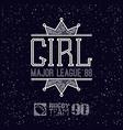 girl sport emblem vector image vector image
