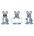 Gray Bunny Mascot happy vector image vector image