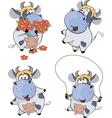 Happy cowsClip Art Cartoon vector image vector image