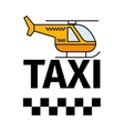 helicopter taxi transport poster vector image