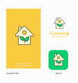 house company logo app icon and splash page vector image vector image
