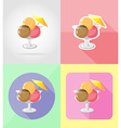 ice cream flat icons 11 vector image vector image