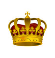 icon of golden crown with precious stones vector image