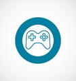 joystick icon bold blue circle border vector image vector image
