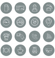 Line gas station icons Service fuel glyph icons vector image vector image