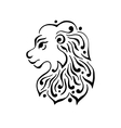 Lion head tattoo or logo vector image vector image