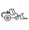 machinery bulldozer icon outline style vector image vector image