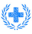 medical award wreath grunge icon vector image vector image