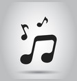 music icon sound note business simple flat vector image vector image