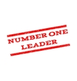 Number One Leader Watermark Stamp vector image vector image