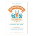 oktoberfest flyer or poster retro typography vector image