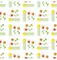 Paper Trendy Flat Flower Pattern EPS8 vector image vector image