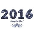Patterned numbers 2016 happy new year design in vector image vector image
