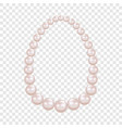 pearl necklace mockup realistic style vector image vector image