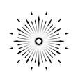 retro sun burst shape vintage logo label badge vector image vector image