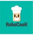 Robot Cook cap smiling flat vector image vector image