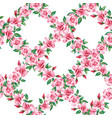 rose grid seamless pattern white background vector image