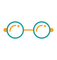 round glasses accessory fashion hipster icon vector image vector image