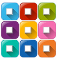 Rounded icons with buttons for fullscreen vector image