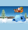 santa claus and elf riding vector image