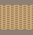 seamless 3d brown rattan pattern art vector image vector image