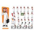 set of businessman saudi arab man vector image vector image