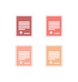 Set of paper stickers on white background legal vector image vector image