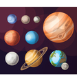 set planets solar system vector image