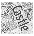 Sherborne Old Castle Word Cloud Concept vector image vector image