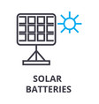 solar batteries thin line icon sign symbol vector image vector image