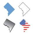 state map washington dc vector image vector image