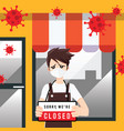 store shop is closed or bankrupt business concept vector image vector image