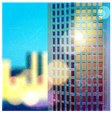sunlit skyscraper vector image vector image