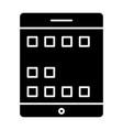 tablet screen solid icon digital tablet vector image vector image