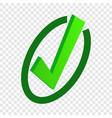 tick isometric icon vector image vector image