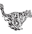 tiger jumping tribal vector image vector image