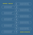 timeline universal template modern infographic vector image vector image