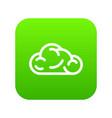 ui cloud icon green vector image