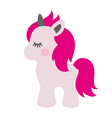 unicorn fairy-tale character isolated object vector image
