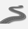 winding road on a transparent backgroundte vector image vector image