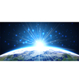 Light of planet earth from the space at night vector image