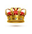 royal crown gold velvet realistic vector image