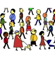people crowd vector image