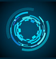 sci-fi futuristic user interface vector image