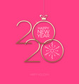 2020 celebration greeting card vector image