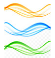 abstract soft wavy light lines set vector image vector image