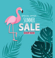 abstract tropical summer sale background with vector image vector image