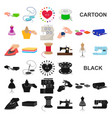 atelier and equipment cartoon icons in set vector image