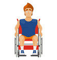 athlete in a wheelchair on a white background vector image vector image