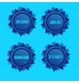 Blue Style Star With Label Sign And Blue Light vector image vector image